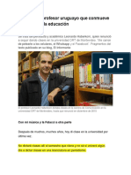 La Carta Del Profesor Uruguayo Que Conmueve Al Mundo de La Educación