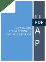 Separacion Convencional y Divorcio Ulterior