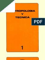 Antropología y técnica. v1