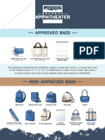 Brandon Amphitheater  Bag Policy