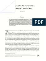 O Passado Presente na Literatura Angolana