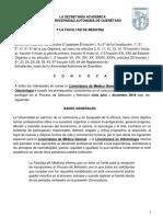 CONVOCATORIA CURSO PROPEDÉUTICO-MEDICINA ODONTOLOGÍA 2018-2