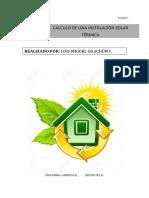 Calculo de Una Instalación Solar Térmica