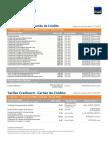 Tabela de Tarifa Credicard
