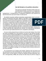 Flavia Terigi - La centralidad de la política educativa