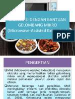 Ekstraksi Dengan Bantuan Gelombang Mikro (Microwave-Assisted Extraction