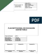 Ins 2.1 Plan Institucional de Evacuación Cesfam Yobilo