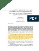 Intervención Comunitaria en Chile (Jaime Alfaro)