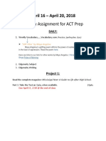 weekly assignment for act prep 16 april  1