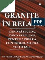 Granite in relatii, de Dr. Henry Cloud