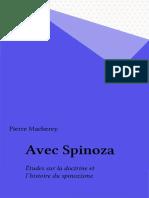 Macherey - Spinoza Au Present