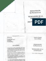 Administración de Proyectos  de Tecnologías de la Información - Chinkes y Oriolo