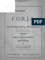FORJA - Manifiesto Al Pueblo de La República