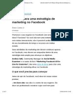 4 Dicas Para Uma Estratégia de Marketing No Facebook