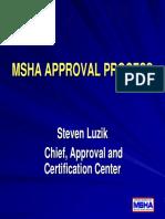 MSHA Approval Process