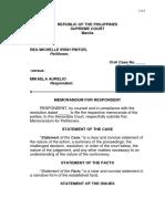 Memorandum for Respondent