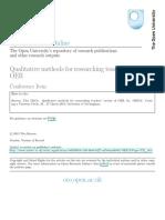 Qualitative Methods for Researching Teachers