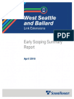 Early Scoping report for West Seattle/Ballard light rail