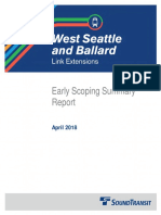 Early Scoping report for West Seattle/Ballard light rail