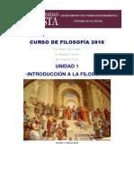 CURSO de FILOSOFÍA 2016 U1 Introducción a La Filosofía