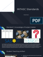 student teaching intasc standards