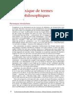 Lexique La Dissertation de Philosophie
