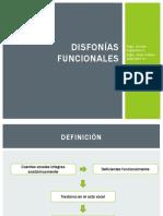 4. Disfonías Funcionales