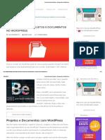Como Gerenciar Projetos e Documentos No WordPress