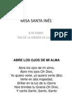 Misa Institucional 8 de Mayo 2015