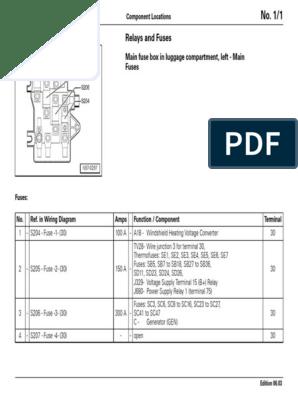 vw phaeton fuse diagram volkswagen phaeton relay and fuse locations  volkswagen phaeton relay and fuse locations