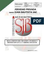 Reglamento Del Regimen Ingreso Promocion a La Carrera Docente v.2.1