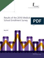 2016 Medical School Enrollment Survey Report
