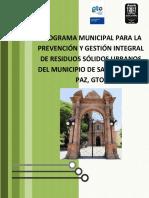 Programa Municipal Para La Prevención y Gestión Integral de Residuios Sólidos Urbanos