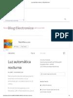 Luz Automática Nocturna – Blog Electronica