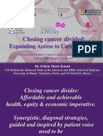 Closing cancer divided