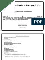 Certificado Treinamento Reciclagem Operador de Grua