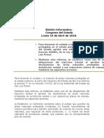 Boletín Informativo Congreso Del Estado