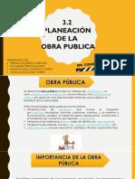Planeacion de Obras Publicas