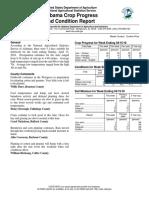 Alabama Crop Progress and Condition Report