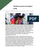Prisión Para Los Detenidos Por Enterrar en Hormigón a Tres Personas en Sevilla