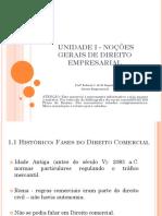 Unidade 1. Noções Gerais de Direito Empresarial
