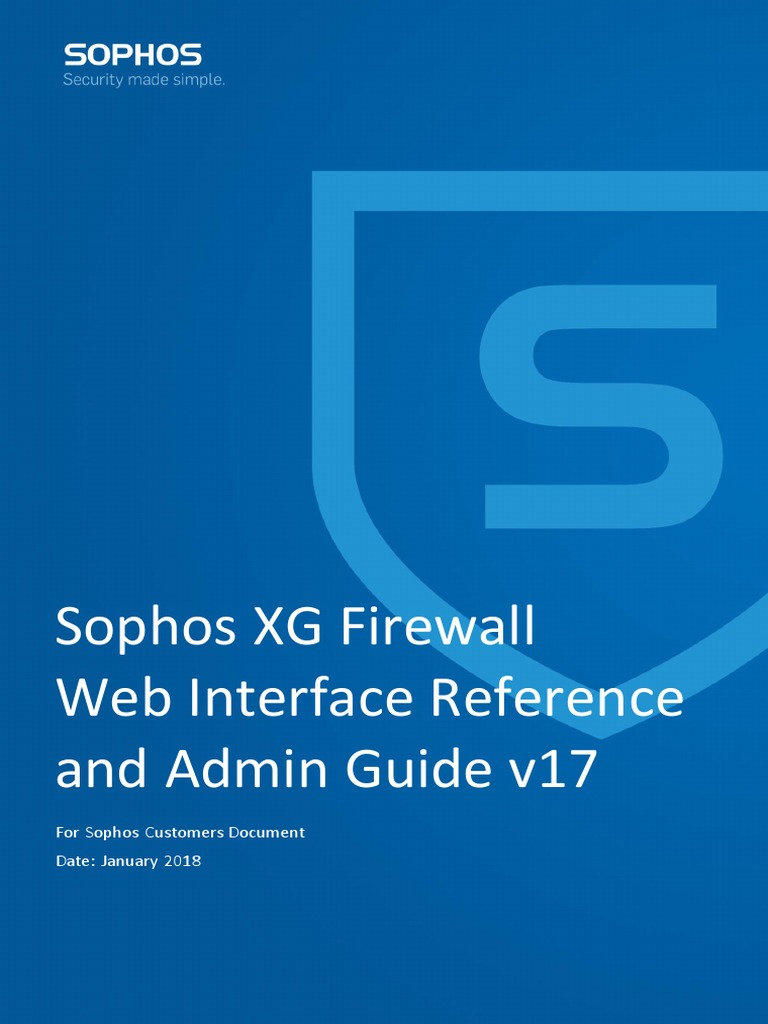 Sophos XG Firewall Web Interface Reference Guide pdf | Command Line