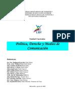 Política, Derecho y Medios de Comunicación
