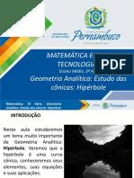 Geometria Analítica - Estudo Das Cônicas Hipérbole