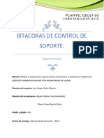 Bitacoras de Control de Soporte