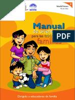 Manual de Orientación Para Escuelas de Familias