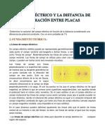 Campo Eléctrico y La Distancia de Separación Entre Placa1