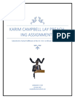 Karim Campbell Lay Preaching Assignments Complete