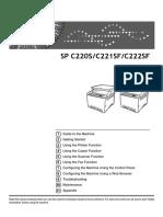 Ricoh Aficio C222 scan-fax  User Guide