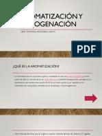 Aromatización y Halogenación